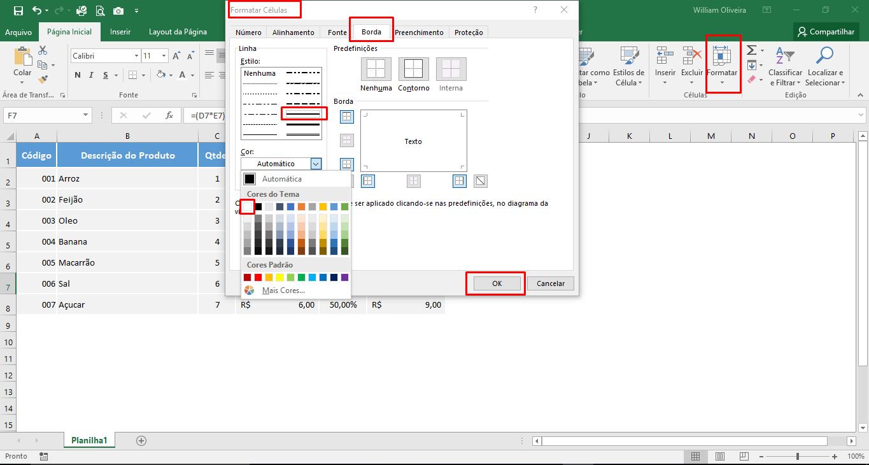 Planilha em Excel para cálculo de vendas final grátis