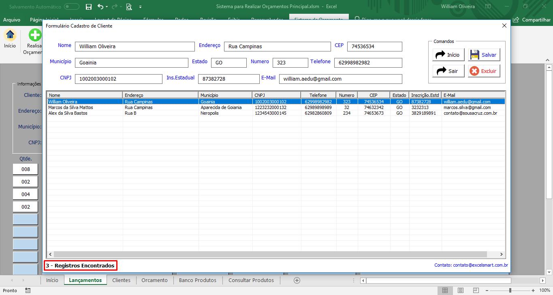 Atualização da Planilha para Gerar orçamento e Salvar em PDF