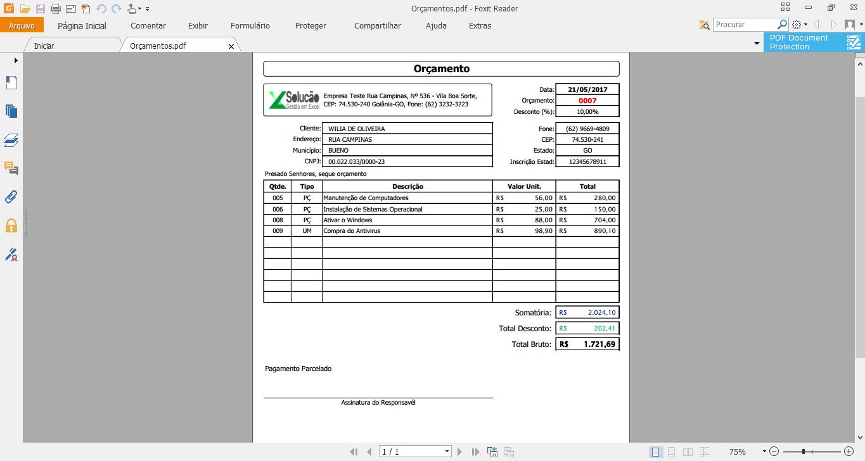 OC11 Modelo de orçamento   Planilha para Gerar orçamento
